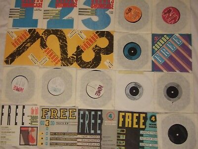 "20 x INDIE VINYL 7"" SINGLES EP'S from 80's music magazines JOB LOT (NM)"