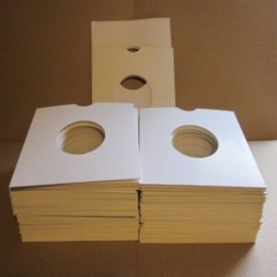 100 White CARD Sleeves - (unmissable) TOP QUALITY CARD SLEEVES - our 7'' papers