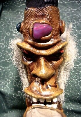 11 INCH CLAY PIPE FIGURE w/ BUILT IN KNIFE ~ H*A*S*H VOODOO OCCULT MAGICK RITES