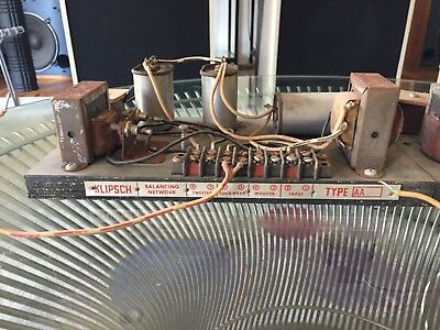 Rare Pair of Klipsch Type AA Crossover Balancing Network Removed from La Scala
