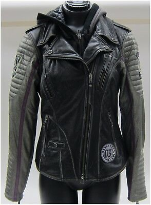 "Harley-Davidson New Ladies Size X-Large Vintage leather ""Jacket""  ""Girl Power"""
