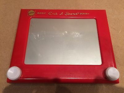 Vintage Mattel Magic Etch A Sketch Screen - Classic Drawing Toy - Fully Working