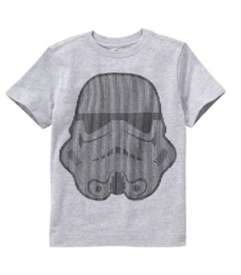Nwt Gymboree Star Wars Boys Shirt Storm Trooper Short Sleeve Xxs 2t