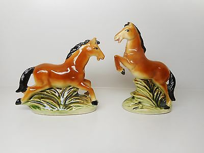 Vintage - Ceramic Horses Salt And Pepper Shakers Excellent Condition
