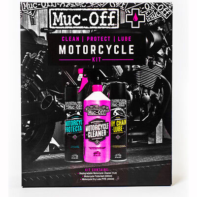 Motorcycle Muc-Off Clean Protect Lube Motorcycle Kit - Black UK Seller
