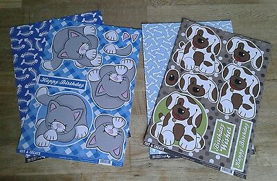 Craftstyle Cut and Create 3D Decoupage Cat and Dog A4 Sheets with Backing Card