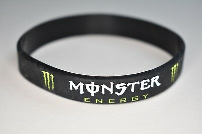 "3D Black Silicone ""Monster Energy"" Wristband - New"