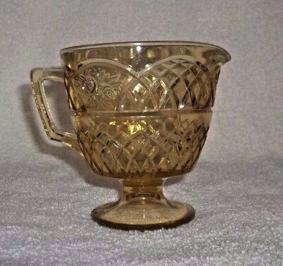 Federal MAYFAIR  AMBER *FOOTED CREAMER