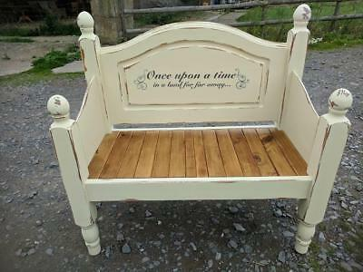 pine shabby chic FAIRYTALE settle...uk delivery available