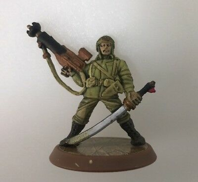 Heroscape Rise of the Valkyrie Sgt. Drake Alexander with card
