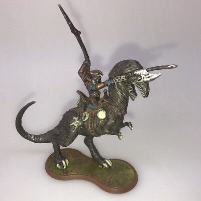 Heroscape Rise of the Valkyrie Grimnak on dinosaur with player card