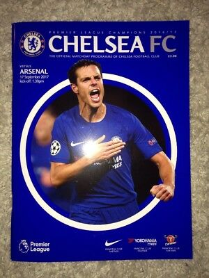 Chelsea v Arsenal 2017 Official Matchday football programme