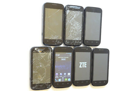 Lot of 7 ZTE Concord 2 Z730 MetroPCS Smartphones All Power On AS-IS GSM