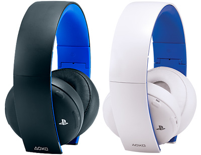 Cuffie Wireless Sony Playstation 4 White Bianche 2.0 E Black Stereo Headset Ps4