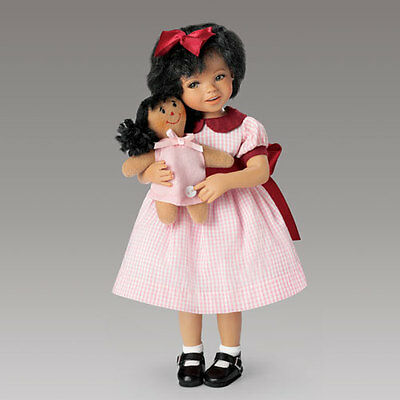 Ashton Drake -Child Doll''aisha And Her Dolly'' My Forever Friend By Mayra Garza