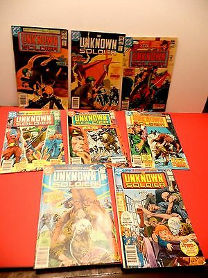 Dc Comics 1981 The Unknown Soldier Lot Of 8