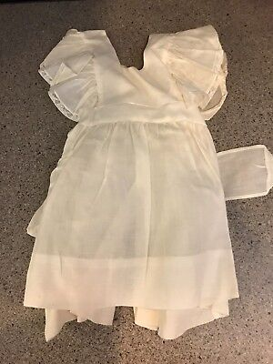 Vintage Baby Girl White Sheer  Pinafore Dress Childrens Clothes Kladezee Size 1