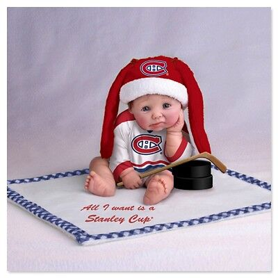 Ashton Drake CANADIENS WANT STANLEY CUP Baby Doll by Sherry Rawn