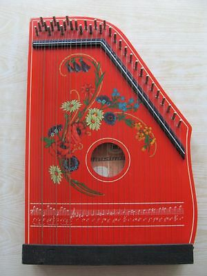 Old vintage 33 strings harfe zither MUSIMA Germany 1960-70
