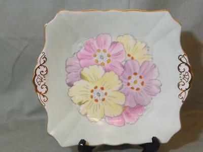 Vintage Plant Tuscan China Cake Serving Plate Stunning Floral Pattern No.7424