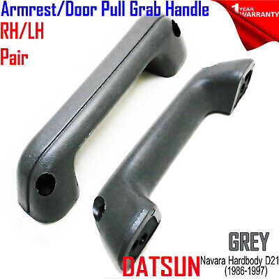 Pair Arm Rest Door Grab Handle Pull for 86-97 N/S D21 Big-M Pickup Truck grey