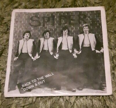 Spider Back To The Wall  Pennine Records Nwohm Punk Picture Cover Original