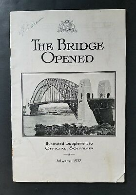 1932 Opening Program for the Sydney Harbour Bridge  ~  New South Wales