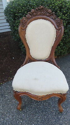 Antique  Belter Rosalie style  Rosewood  Victorian chair