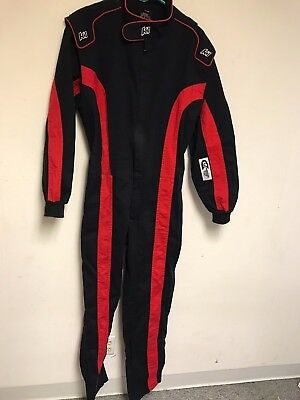 Mens K1 Racing One Piece Fr Fire Retardant Black And Red One Piece Suit Medium