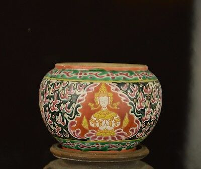 A 19Th Century Chinese Bencharong Jar For Thai Market