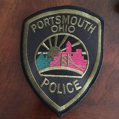 Portsmouth Police Patch Ohio Subdued TAC SWAT