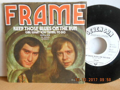 "7"" CLAM ROCK 1974! FRAME - Keep Those Blues On The Run # PROMO #"