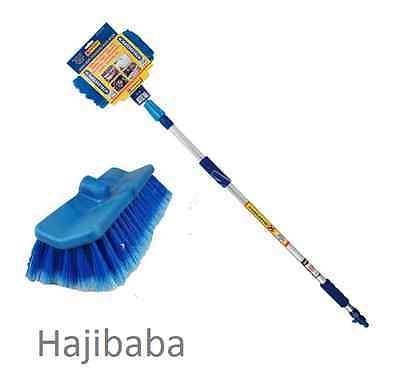 BN 2M Telescopic Hose Water Fed Caravan Boat Car Van Bus Window Wash Brush Clean