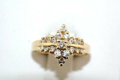 Classic Diamond 14k Yellow Gold Cocktail Ring