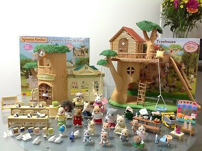 Sylvanian Families BNIB Country Tree School, Treehouse, Figures, Furniture Etc..