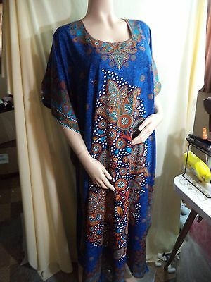 NEW Sante' Classics  >3 X Polyester Sapphire Floral Patio Dress East India Sari