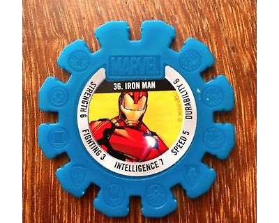 Woolworths Marvel Heroes #36 Iron Man Disc Woolies Super Heroes Number 36
