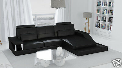 leder eck couch mit schlaffunktion eur 1 00 picclick de. Black Bedroom Furniture Sets. Home Design Ideas