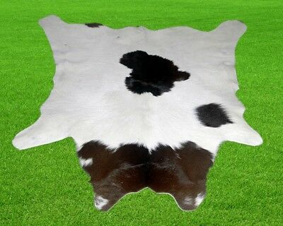 "New Calfhide Rugs Area Cow Skin Leather 6.65 sq.feet (33""x29"") Calf hide MB-2963"