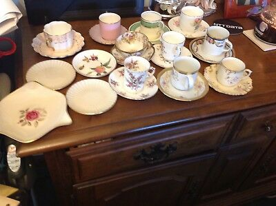 Lot of small China tea cups and saucers