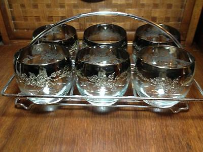 Mid century modern  Mid sized silver fade tumblers