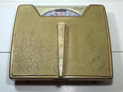 1950's Counselor gold bathroom scale made in USA