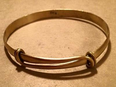 Antique European 800 silver coil bracelet floral art nouveau design