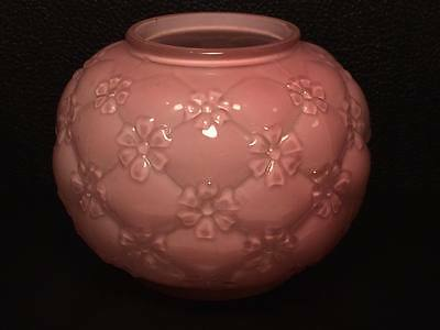 E.A.P.G. Consolidated glass ? florette pink 6 stem flower cased glass rose bowl