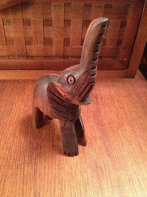 Carved hardwood elephant