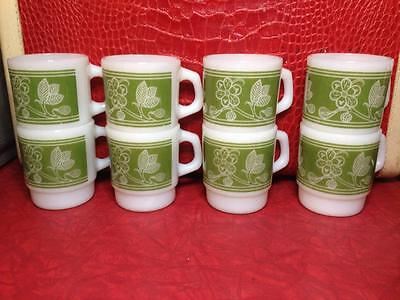 8 Fire King Floral Mugs Great Condition , vintage , kitchen