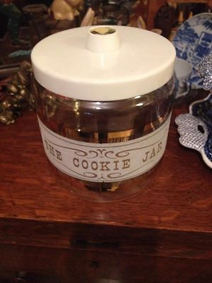 Pyrex    glass cookie canister