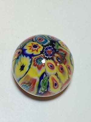 Millefiori art glass paperweight