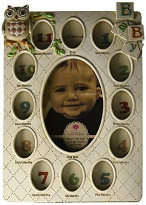 FBAS-FBA4KQSH9NMISSING-Fashioncraft Baby's First Year Collage Frame