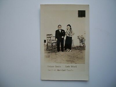Antique RPPC Postcard  Prince Denis and Lady Ethel Smallest Married Couple